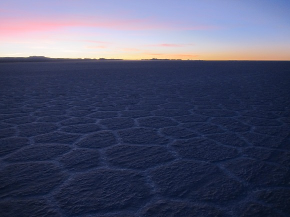 Sunrise over Salar de Uyuni